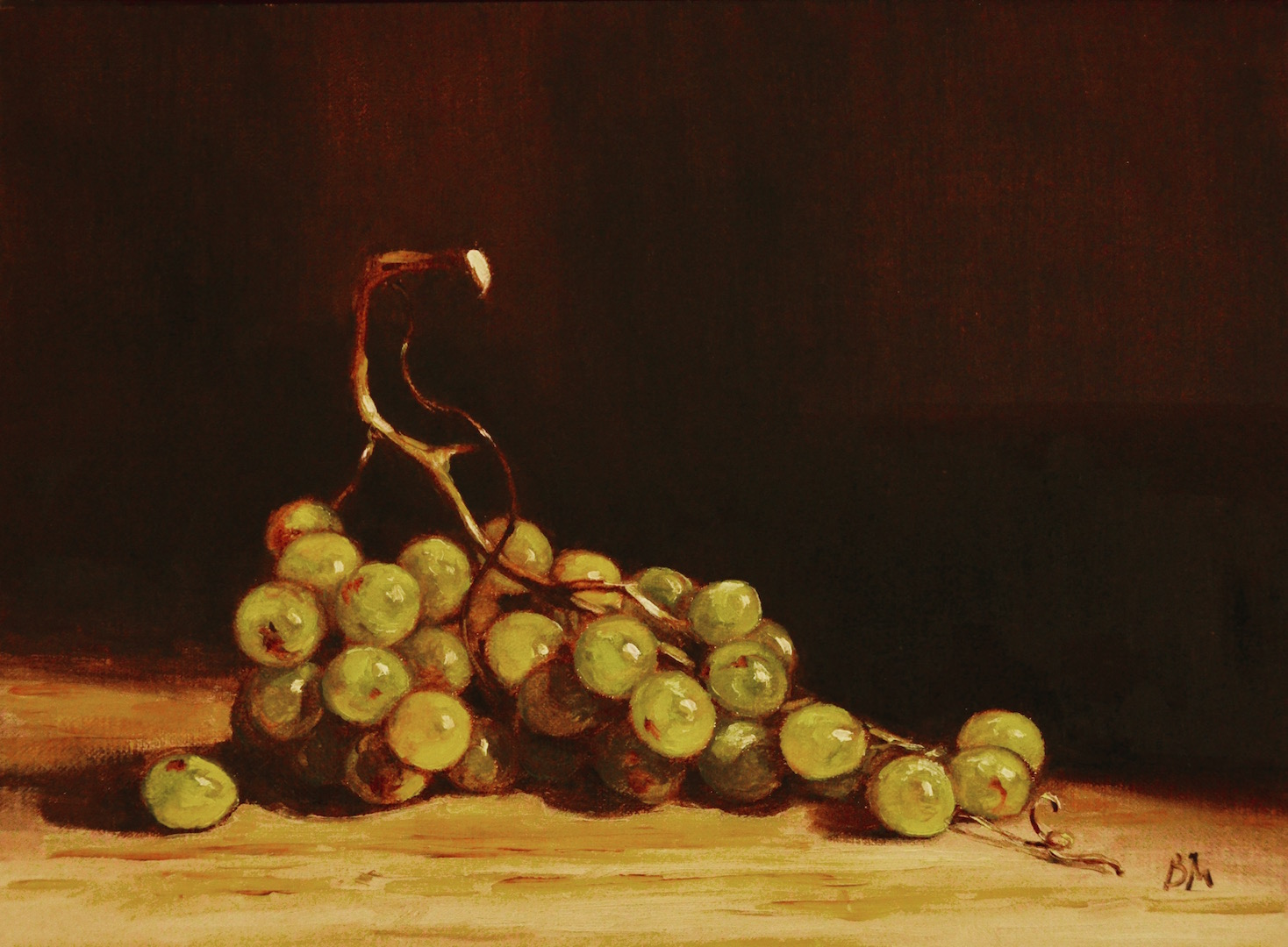 Muscat Grapes painting by Begoña Morton